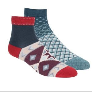Free People Double Trouble Geometric Ankle Socks